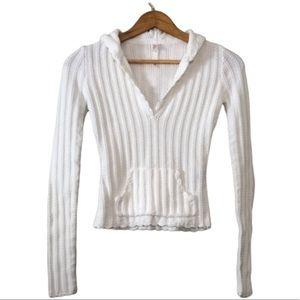 Lilu knit pocket hooded pullover medium